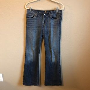 7 For All Mankind Flare Jeans Size 30